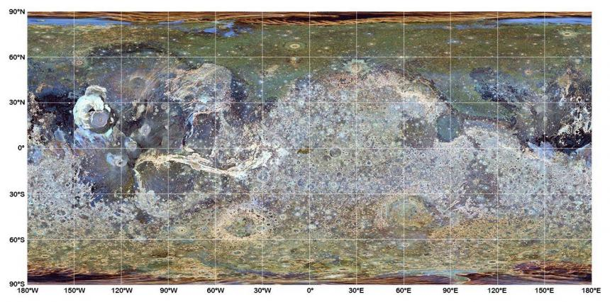 Mars surface roughness map