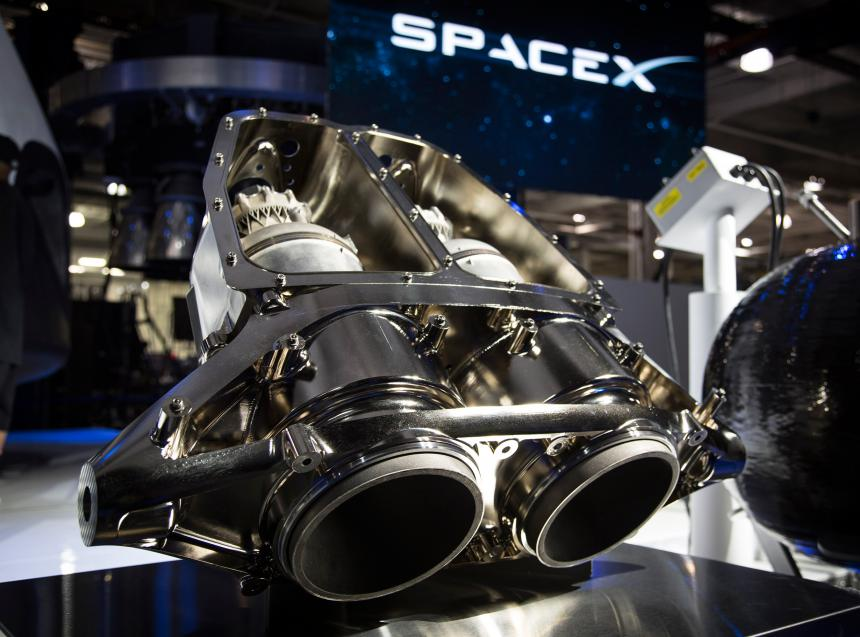 SpaceX SuperDraco engines